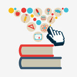 E-learning  concept design Stock Images