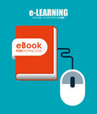 E-learning  concept design Royalty Free Stock Photo