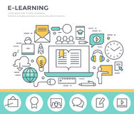 E- learning concept illustration. Stock Images