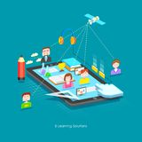 E learning Concept stock illustration