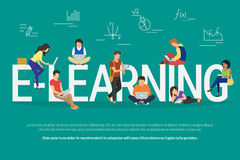 E-learning concept illustration Royalty Free Stock Photos