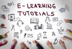 E - learning concept Stock Photos