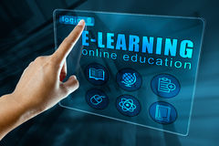 E-learning concept Royalty Free Stock Image