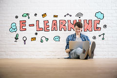 E-learning concept Stock Photos