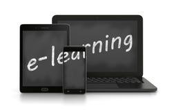 E-learning, concetto di addestramento online illustrazione di stock