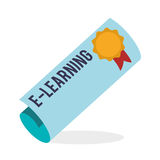 E-learning design. education icon. online concept, vector illustration Stock Images