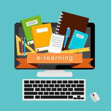 E-learning. e-book. online education Royalty Free Stock Image