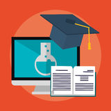 E-learning education design Royalty Free Stock Images