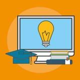 E-learning education design Royalty Free Stock Image