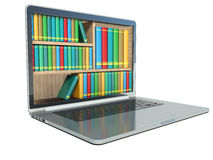E-learning education or internet library Royalty Free Stock Photos