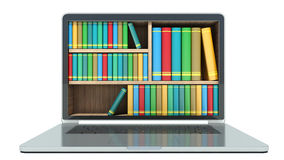 E-learning education or internet library Royalty Free Stock Photo
