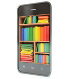 E-learning education or internet library concept. Smartphone Stock Photos