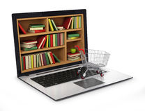 E-learning education or internet library. Stock Photography
