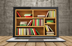 E-learning education or internet library. Stock Photos