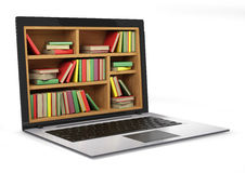 E-learning education or internet library. Stock Photo