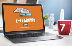 E-learning Education Internet Networking Sharing Concept Stock Photography