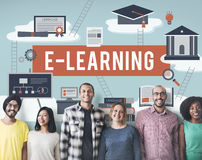 E-learning Education Internet Technology Network Concept Stock Photography