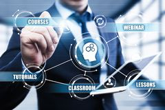 Free E-learning Education Internet Technology Webinar Online Courses Concept Royalty Free Stock Images - 100570799