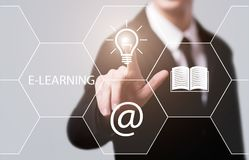 E-learning Education Internet Technology Webinar Online Courses concept.  Stock Photography