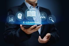 E-learning Education Internet Technology Webinar Online Courses concept Stock Image