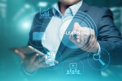 E-learning Education Internet Technology Webinar Online Courses concept Stock Photography