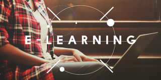 E-learning Education Studying Course Online Concept royalty free stock photo