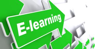 E-Learning. Educational Background. Royalty Free Stock Image