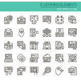 E-learning Elements stock illustration