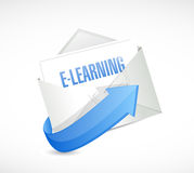 E learning email message illustration design Stock Photo