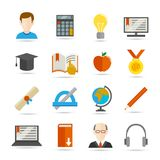 E-learning flat icon Stock Photos