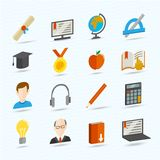 E-learning Flat Icons Stock Photography