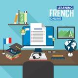 E-learning French language. Stock Image