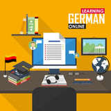 E-learning German language. Stock Image