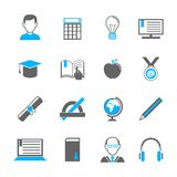 E-learning icon set Royalty Free Stock Image