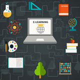 E-Learning Icons Stock Photos