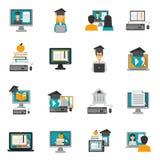 E-learning Icons Flat Set Stock Photos