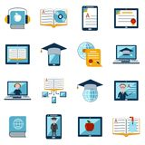 E-learning Icons Set Stock Photography