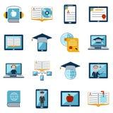 E-learning Icons Set Stock Photography
