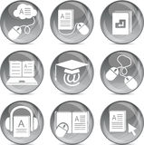 E-learning icons in vector Royalty Free Stock Photo