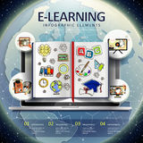 E-learning infographic elements Stock Images