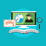 E-learning, on-line education concept Royalty Free Stock Images