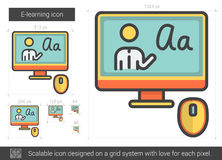 E-learning line icon. Royalty Free Stock Images