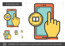 E-learning line icon. Stock Images