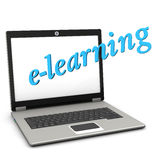 E-Learning Notebook Royalty Free Stock Photo
