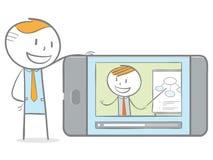 E-learning online Fotografia Stock Libera da Diritti