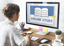 E-learning Online Class Study Knowledge Ideas Concept royalty free stock images