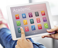 E-learning Online Education Application Concept Stock Image