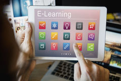 E-learning Online Education Application Concept Stock Photos