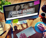 E-learning Online Study Learning Website Concept. Students E-learning Online Study Learning Website royalty free stock photos