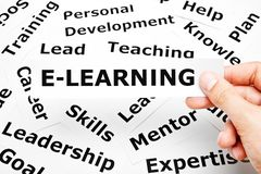E-Learning With Other Related Words Concept royalty free stock photography